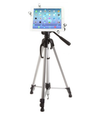 G7 Pro iPad 12345, Air, mini, Pro 9.7 / 10.5 Tripod Mount + 60 inch Adjustable Pan Head HD Tripod + Carry Bag
